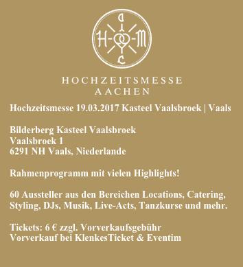 Fakten Hochzeitsmesse Aachen 19.03.2017